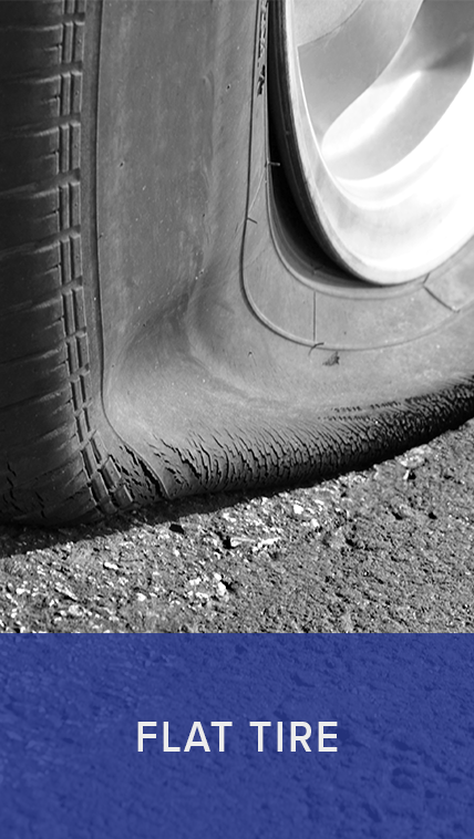 Mach1 roadside assistance offers flat tire services